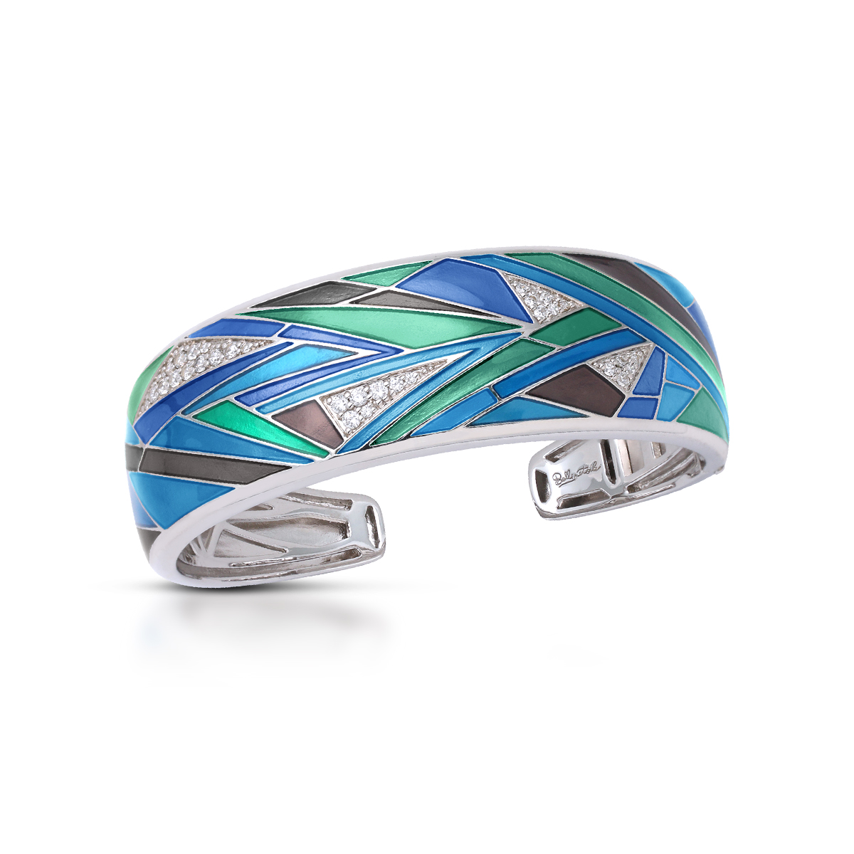 Belle Etoile - Chromatica_Blue_and_Teal_Bangle_07022010201.jpg - brand name designer jewelry in Morgantown, West Virginia