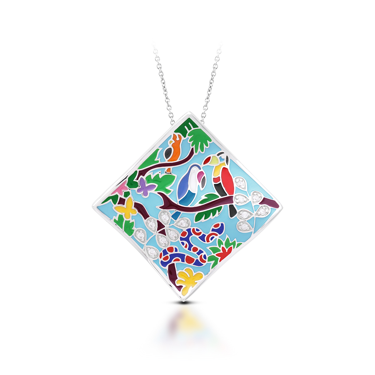 Belle Etoile - Tropical_Rainforest_Blue_and_Multi_Pendant_02022010302.jpg - brand name designer jewelry in Morgantown, West Virginia