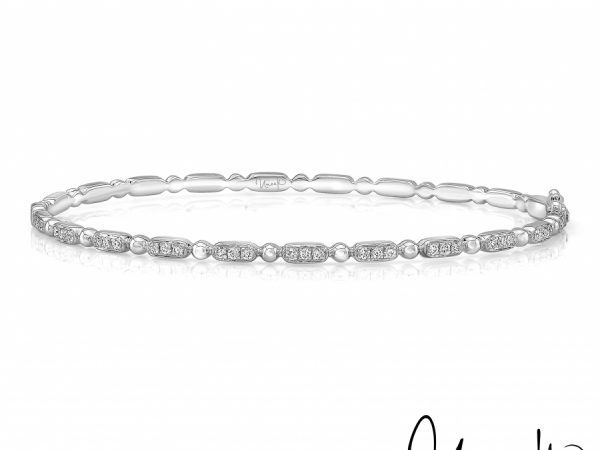 Uneek Rodeo Stackable Diamond Bangle in 14K White Gold - LVBAWA837W by Uneek Jewelry