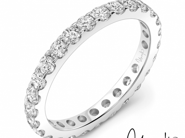 Uneek Round Diamond Eternity Band, 3.00 CTTW, in 14K White Gold - SWS197-1CTW by Uneek Jewelry